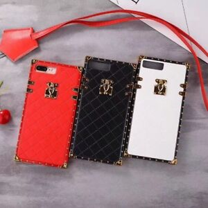 best loved bb8c5 b3cc2 Details about PU Reserve Trunk Leather Strap Case for Apple iPhone X R s  Max 6 7 8 plus Cover