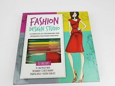 Walter Foster Fashion Design Studio Kit New Design And Draw Your Own Fashions Ebay