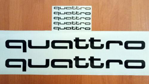 quattro AUDI SRT Car Racing Sport Die Cut Decals Sticker Vinyl Emblem Logo 010b