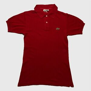 Mens-Vintage-Lacoste-Polo-Shirt-XS-Red-Short-Sleeve