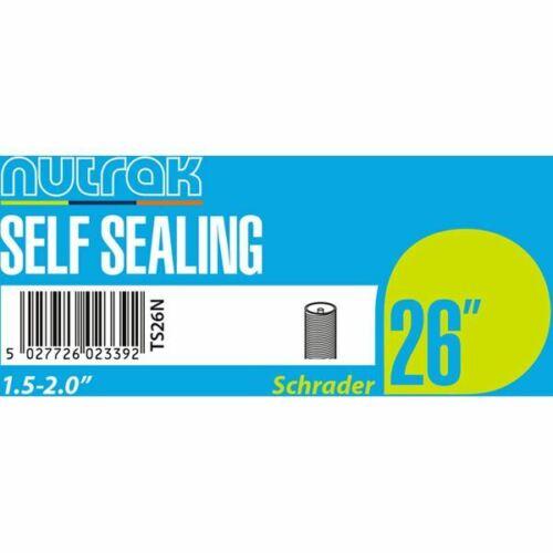 Nutrak 26 x 1.5-2.0 inch Schrader self-sealing inner tube