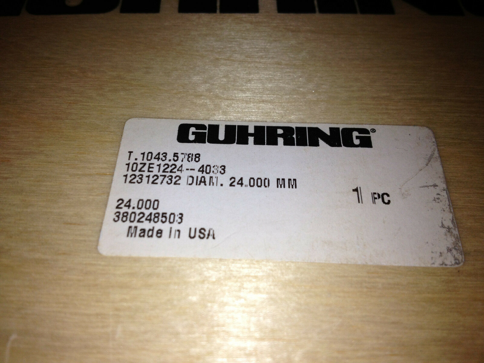 ABS-50-SHANK,10ZE1224-4033 BO NEW OLD GUHRING T.1043.5788 24mm PCD-TIPPED TOOL