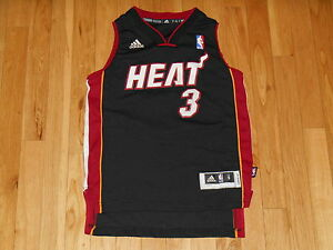 096f4e81b9a ADIDAS REV30 DWYANE WADE BLACK ROAD MIAMI HEAT YOUTH NBA TEAM ...