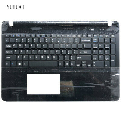Sony Vaio SVF15 SVF151 SVF152 SVF153 SVF1541 US keyboard black Palmrest Cover