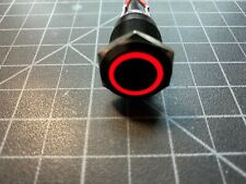 19mm 12v Red Led Momentary Push Button Switch Wire Harness Included Us Shipping