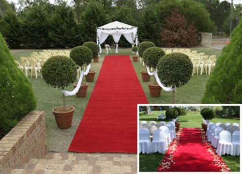 Hochzeitsteppich 100 cm x 25 Meter Länge Roter Teppich für Party /& Event