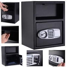 Digital Safe Box Depository Drop Deposit Front Load Cash Vault Lock Home Jewelry
