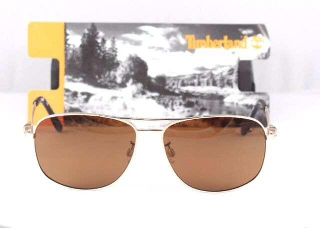 Brown Msrp $145.00 Havana Timberland Polarized Sunglasses TB9073 33H Gold