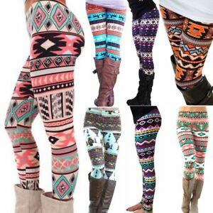 Winter-Women-Vogue-Warm-Knit-Snowflake-Leggings-Xmas-Tight-Fleece-Stretch-Pants