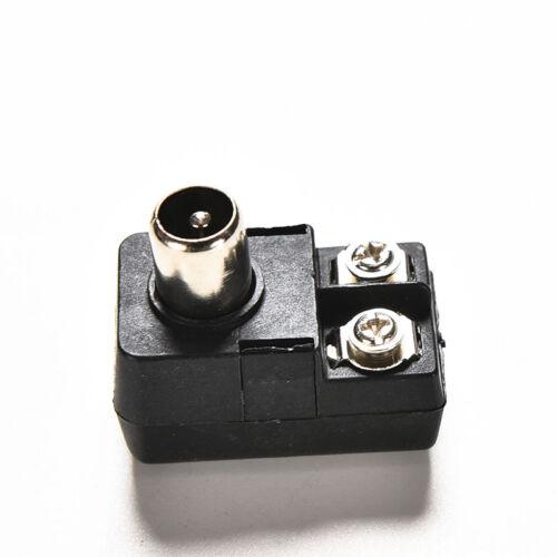 Connector Antenna Matching Transformer Balun75 300ohm IEC TV PAL Male Adapter TO