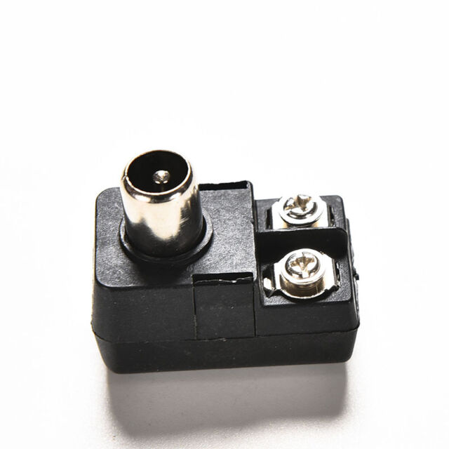 2x75 300ohm IEC TV PAL Male Adapter Connector Antenna Match Transformer Balun UK