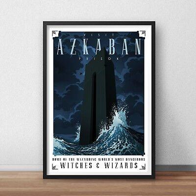 Harry Potter Hogwarts  Explore Travel Traveling Minimal Movie Film Poster Print