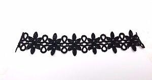 2-Pcs-Black-Retro-Gothic-Lolita-Style-Lace-Flower-Collar-Choker-Necklace