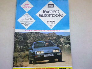 REVUE TECHNIQUE  N° 198   - ford sierra   - 1983  *