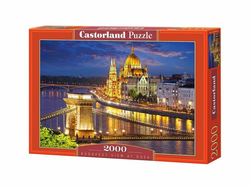 Castorland Puzzle 2000 Pieces Budapest View At Dusk 36 x27  Sealed box C-200405