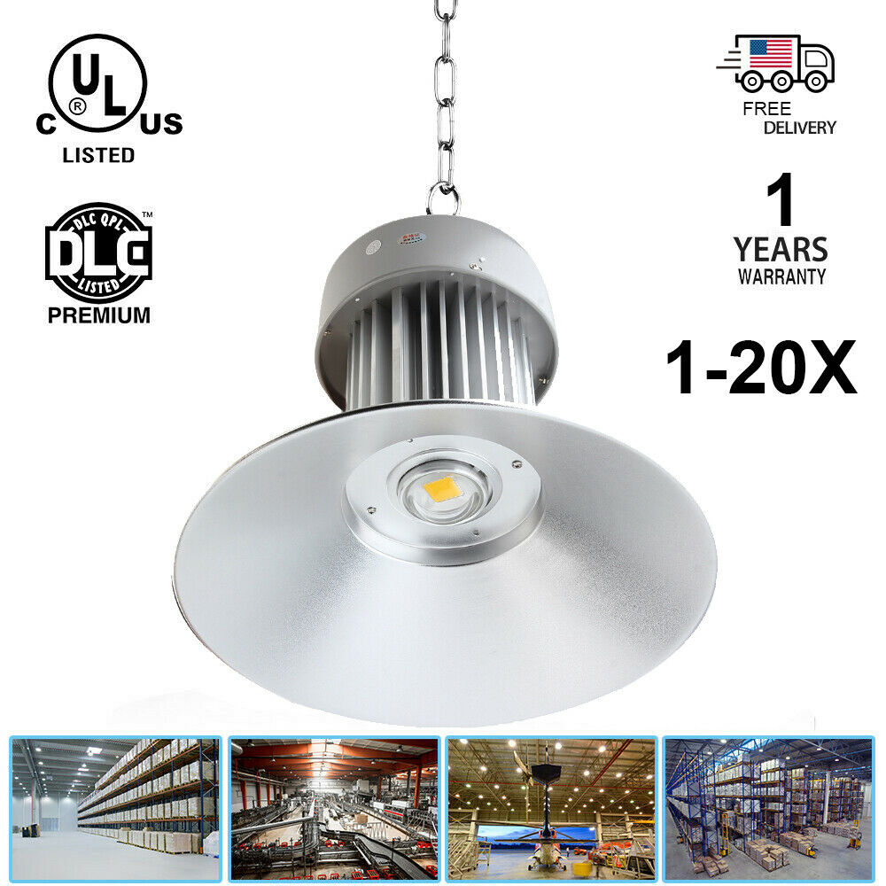 2 X100W LED High//Low Bay Light Lamp Warehouse Shop Shed Factory Industry Fixture
