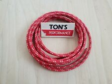 5 feet Vintage Braided Cloth Covered Primary Wire 16 gauge 16g ga Solid Grey