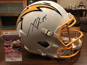 98513e42 Melvin Gordon Autographed LA Chargers Color Rush Full Size Helmet ...