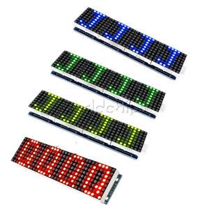 MAX7219-Microcontroller-4-In-1-Display-LED-Dot-Matrix-Module-4-Colors-5P-Line