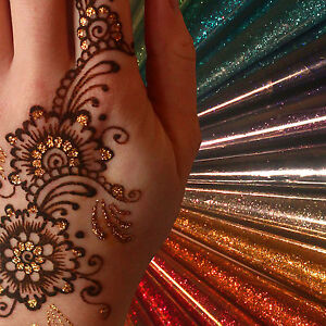 12 Colour Glitter Gel Cone Face Paint Henna Tattoo Body Art
