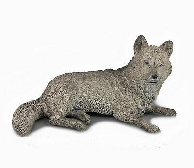 AAA 53112 Gray Wolf Lying Wild Animal Toy Model Figurine Replica - NIP