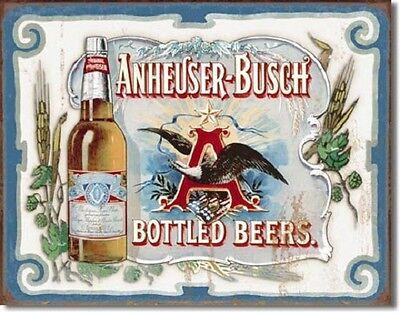Anheuser-Busch beer TIN SIGN vintage bar eagle wall art decor metal poster 1519