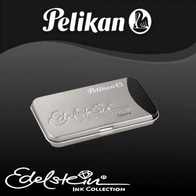 Farben wählbar Pelikan Tintenpatrone Edelstein Ink GTP//6 im Metalletui