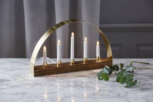LED Lichterbogen Schwibbogen Fensterleuchter Schwedenleuchter modern Gold 70441