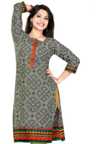 Indian pakistani printed cotton kurti kurta top robe tunique pour femmes 0326