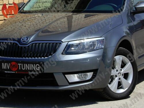 Front Covers RS Style /& Rear Covers Imitating Exhaust for Skoda Octavia A7 III