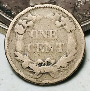 1858 Flying Eagle Cent One Penny 1C Small Letters Civil War Era US Coin CC6982