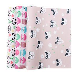 22-30cm-Panda-Printed-Grosgrain-Ribbon-Leather-Fabric-for-Kids-DIY-Materials