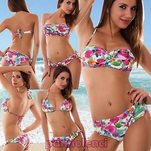 Caricamento dell immagine in corso Bikini-donna-costume-da-bagno-mare -fascia-floreale- 0096b70e1d3