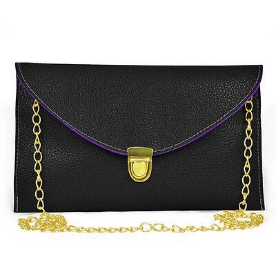 Trixes Mujer 's Simple Estilo Sobre Bolso Bolso de mano con broche cadena