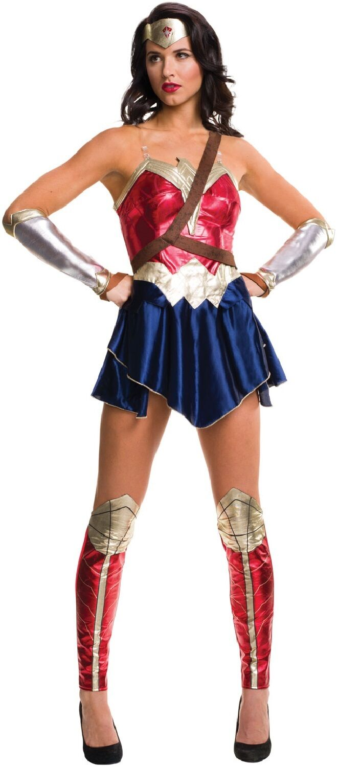Official Justice League Wonder Woman TV Film Fancy Dress Costume Outfit