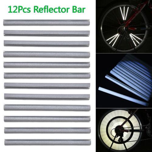 12 pcs Bike Bicycle Wheel Spoke Reflectors 8cm Cycling Clip Reflective Tubes