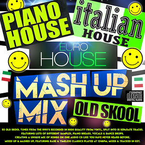 Details about 🌟 Euro Italian Piano House Breaks Old Skool 1990s MASH UP  MIX NEW 2019 CD DJ 🌟