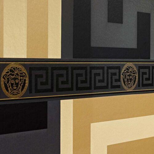 BLACK 935224 NEW VERSACE GREEK KEY WALLPAPER BORDERS