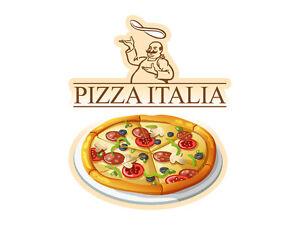 Dettagli su Adesivo Muro Sticker frigorifero per cucina pizza Italia CUOCO  PANETTIERE PIZZA- mostra il titolo originale