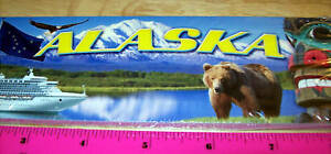 Scrapbook-Header-Card-Alaska-8x2-with-Alaska-Images-New-amp-Unused-Scrap-book