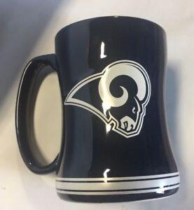 ba3c823b93e Los Angeles Rams Coffee Mug Relief Sculpted Team Color Logo - 14 oz ...