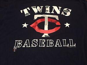 Minnesota-Twins-Large-Camouflage-Logo-T-Shirt-MLB-Baseball-Genuine