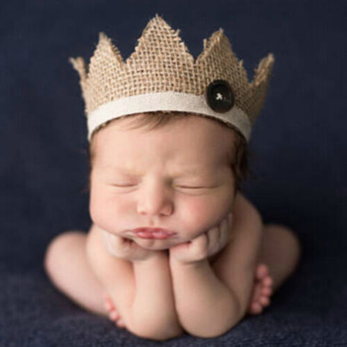 0-2 Years old newborn photography props baby crown hat HU