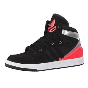Details about Adidas Originals Court Attitude BlackRed Mid Top Trainers Shoes UK 5.5_6