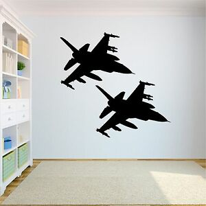 Large us air force f 16 39 s removable wall decals stickers for Decor 6 air force