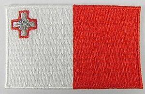 Malta-Aufnaeher-gestickt-Flagge-Fahne-Patch-Aufbuegler-6-5cm-neu