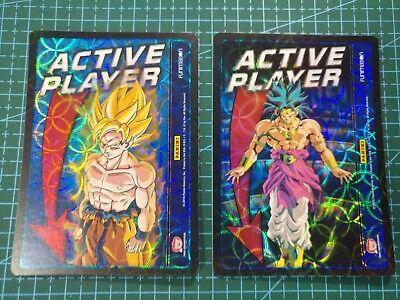 Dragonball Z DBZ TCG Panini Rare active player marker card pair Goku and Broly!