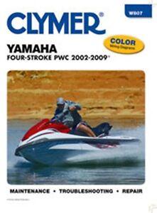 clymer w807 service repair manual for 2002 09 yamaha four stroke rh ebay com 2008 Honda Aquatrax Honda Jet Ski