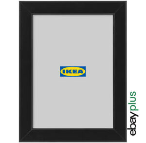 IKEA FISKBO Bilderrahmen 13 x 18 cm schwarz Fotorahmen Bilder Foto Rahmen NEU