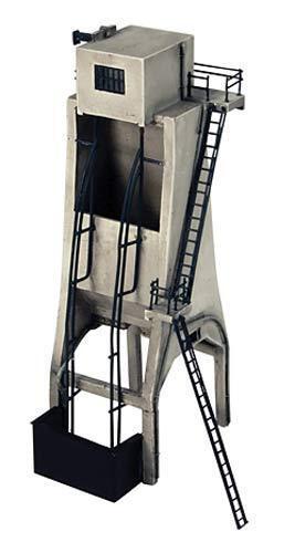 Graham Farish 42-086 n Spur Lokomotive Depot Aschgrau Pflanze Turm T48 Post